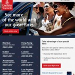 Emirates Sale + scoring FREE weekend nights at Cape Town Waterfront + SPG game