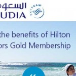 Airline offer for a taste of Hilton Gold + Etihad quadriple miles offer.