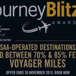 SAA Voyager JourneyBlitz promo 85% off + Hyatt points promo 30% bonus.