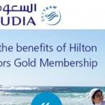Airline offer for a taste of Hilton Gold + Etihad quadriple miles offer.
